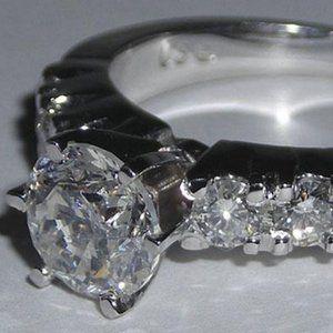 2.23 ct diamond WHITE GOLD ENGAGEMENT RING